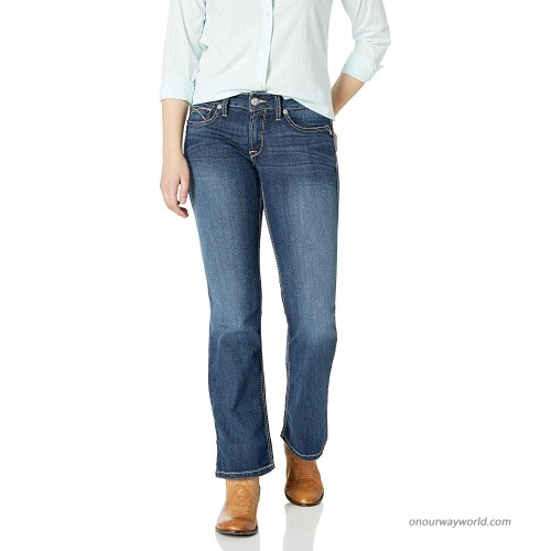 Ariat Women's R.E.A.L Mid Rise BootJean Tulip Gemstone 26 R at  Women's Jeans store