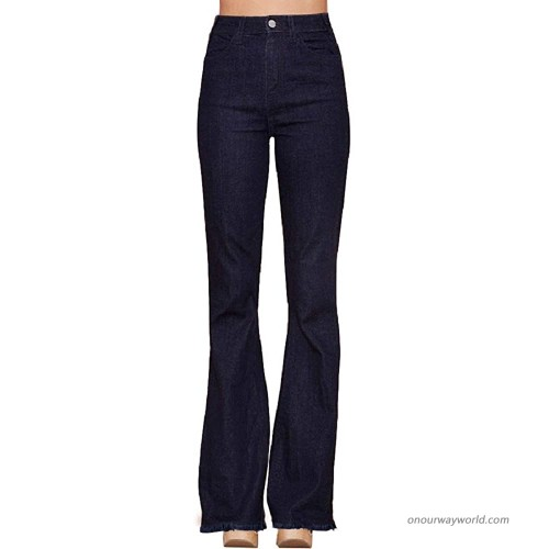 Hidden Jeans Womens Dark Wash Flare Skinny Jeans at Women's Jeans store