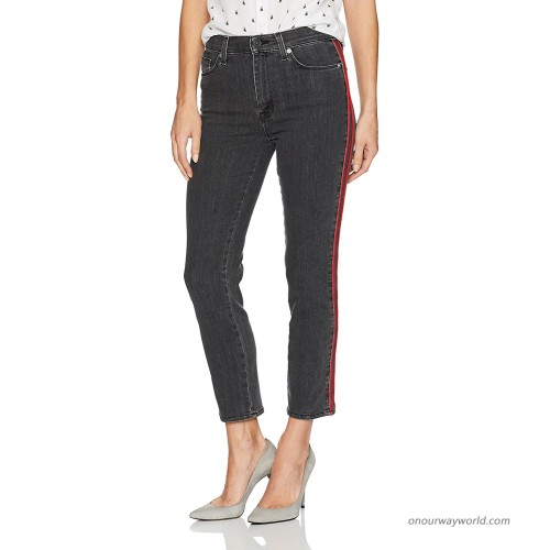 HUDSON Women's Zoeey High Rise Ankle Straight Jeans with Tuxedo Stripe at  Women's Jeans store