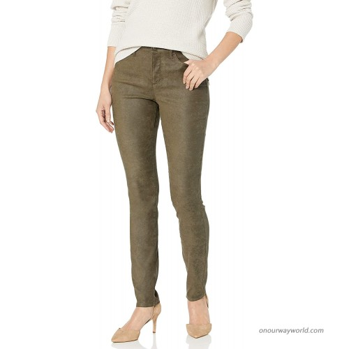 NYDJ Women's Misses Alina Skinny -Pants in Faux Suede OLIVE 0 at  Women's Jeans store