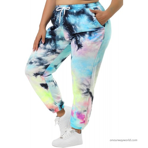 Agnes Orinda Women's Tie Dye Pants Floral Print Drawstring Loose Lounge Pants with Pockets at  Women's Clothing store