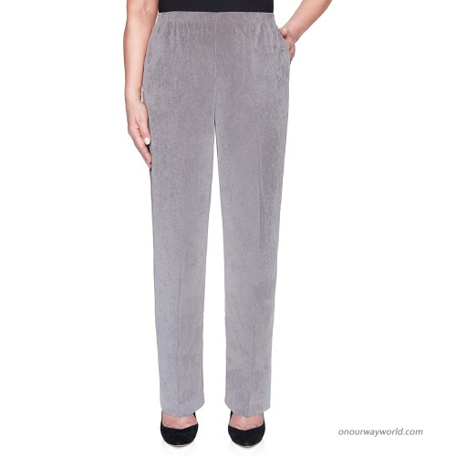 Alfred Dunner Women's Classics Corduroy Pull-On Proportioned Medium Pant - Plus Size at  Women's Clothing store