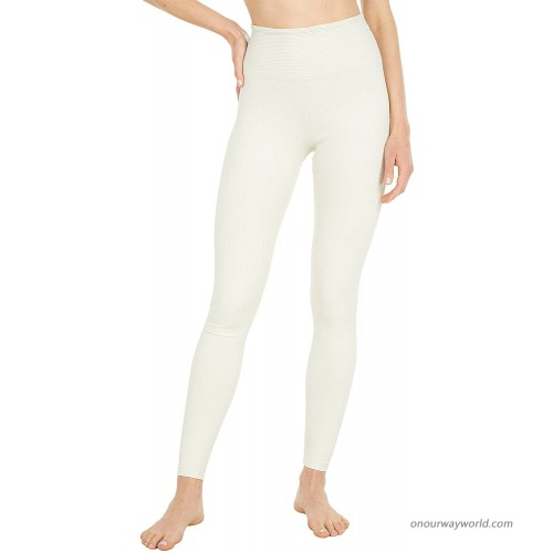 YEAR OF OURS Ribbed High High Leggings Bone LG 25 at Women's Clothing store