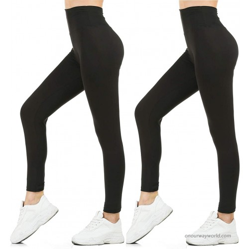Liadon Leggings for Women Casual High Waist Tights 2 Pack Buttery Soft Full Length Opaque Slim at  Women's Clothing store