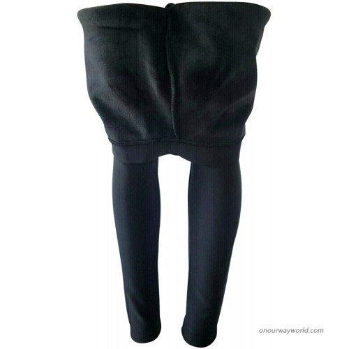 NY GOLDEN FASHION Women Winter Warm Thick Fleece Fur Lined Thermal High Waisted Leggings Pants at Women's Clothing store