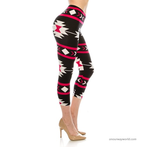 The Leggings Gallery Women's Printed Fashion Capri Leggings Ultra Soft Solid & Patterned at  Women's Clothing store