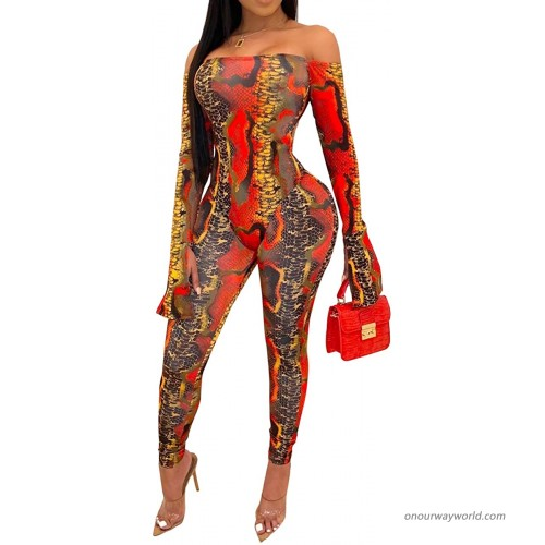 SeNight Bodycon Nightclub Jumpsuits for Women Sexy See Through Two Piece Outfits Off Shoulder Long Sleeve Bodysuit Clubwear