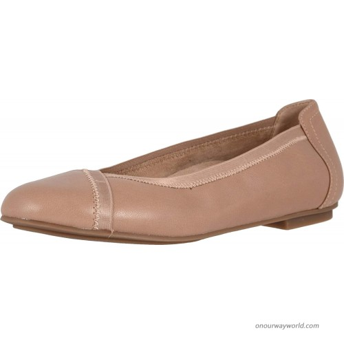 Vionic Women's Spark Caroll Ballet Flat - Ladies Dress Casual Shoes with Concealed Orthotic Arch Support Tan Flats
