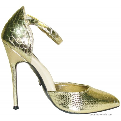 The Highest Heel Unisex-Adult Fierce-141 D'Orsay Pump with Ankle and 4.5 Heel Pumps