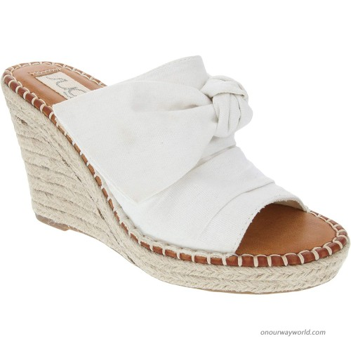 Sugar Women's Hundreds Espadrille Wedge Sandals with Knotty Bow Detail Platforms & Wedges