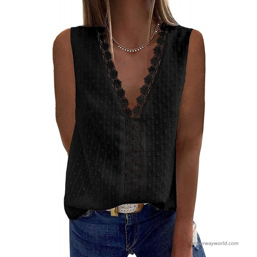 Women's V Neck Lace Crochet Tunic Tops Summer Casual Lightweight Blouses Shirts at  Women's Clothing store