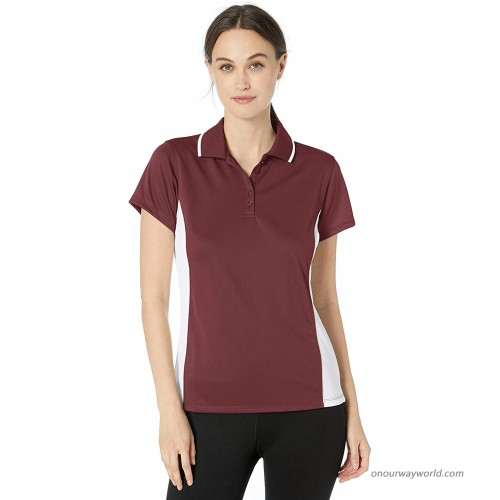 Charles River Apparel Women's Classic Wicking Polo Maroon White Large at  Women's Clothing store Polo Shirts
