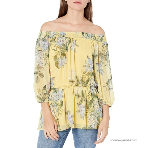 City Chic Women's Apparel Women's Plus Size Bardot Top with Elasticated Waistline at  Women's Clothing store
