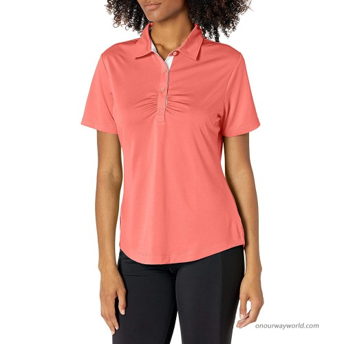 Cutter & Buck Women's Drytec Alder Short Sleeve Polo with Rouching at  Women's Clothing store