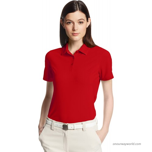 Cutter & Buck Women's Drytec Kingston Pique Short Sleeve Polo Red Small at  Women's Clothing store Polo Shirts