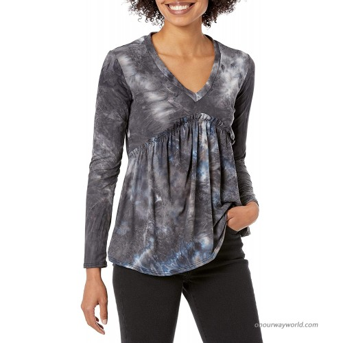 Star Vixen Women's Long Sleeve Babydoll Top with V Neck at  Women's Clothing store