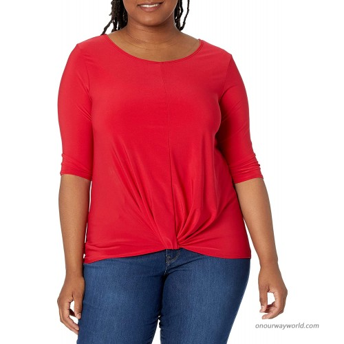 Star Vixen Women's Plus Size Elbow Sleeve Red 1X at  Women's Clothing store