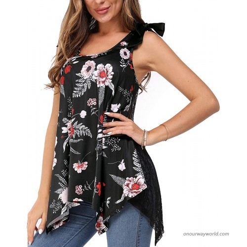 Arach&Cloz Women's Summer Tops Casual Sleeveless Tunic Blouse Flowy Floral Print Loose Tank Top at  Women's Clothing store