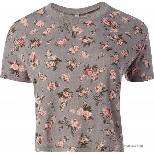 Alternative Women's Headliner Printed Eco-Jersey Cropped T-Shirt at Women's Clothing store