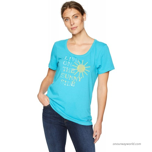 Life is Good Womens Scoop Neck Graphic T-Shirt Crusher Collection