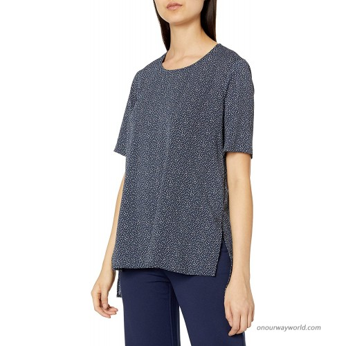 BCBGeneration Women's Slouchy Tunic Tee Celestial Combo Small at Women's Clothing store